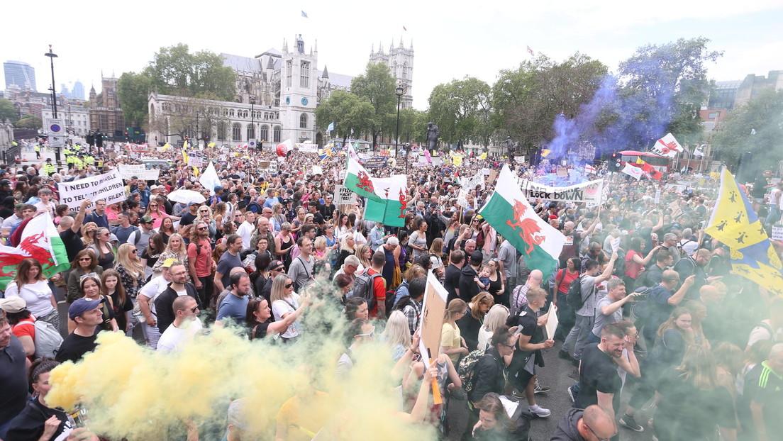 """""""Keine weiteren Lockdowns!"""" – Zehntausende Menschen demonstrieren in London"""