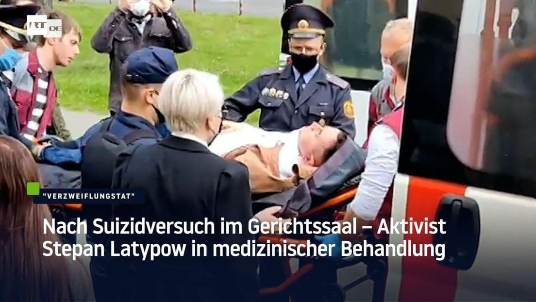 Weißrussland: Nach Suizidversuch im Gerichtssaal – Aktivist Latypow in medizinischer Behandlung