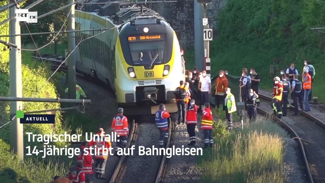 Tödlicher Unfall auf Bahngleisen: 14-Jährige stirbt