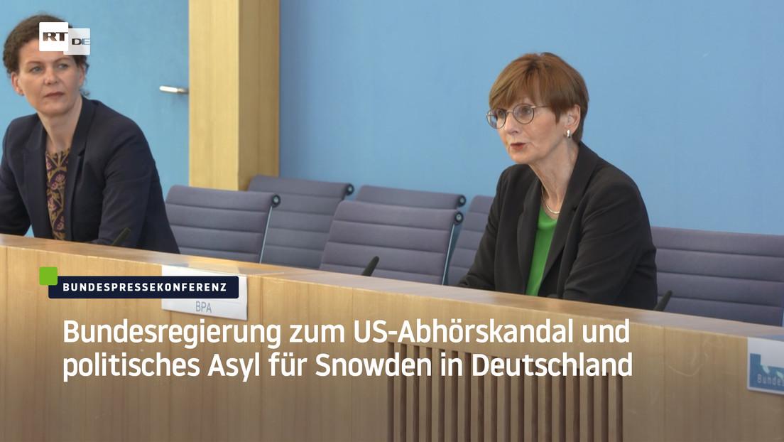 Bundesregierung zu US-Abhörskandal gegen deutsche Politiker und politischem Asyl für Snowden
