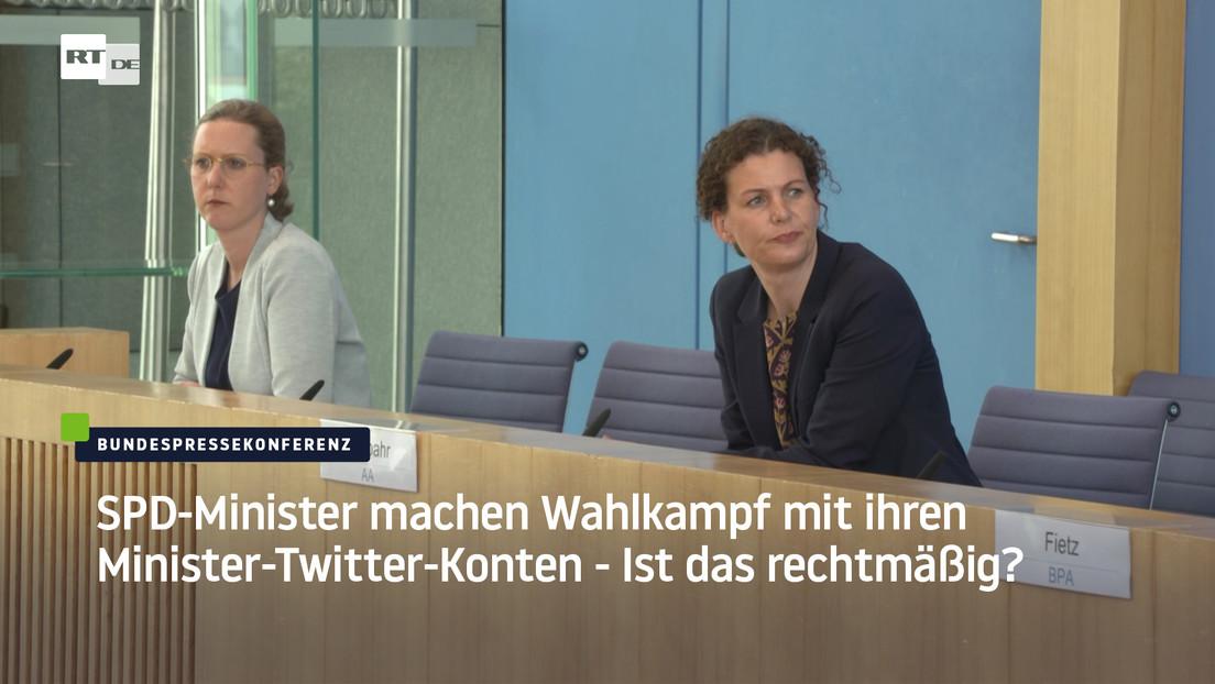 Heiko Maas und Olaf Scholz machen SPD-Wahlkampf mit Minister-Twitter-Konten – Ist das rechtmäßig?