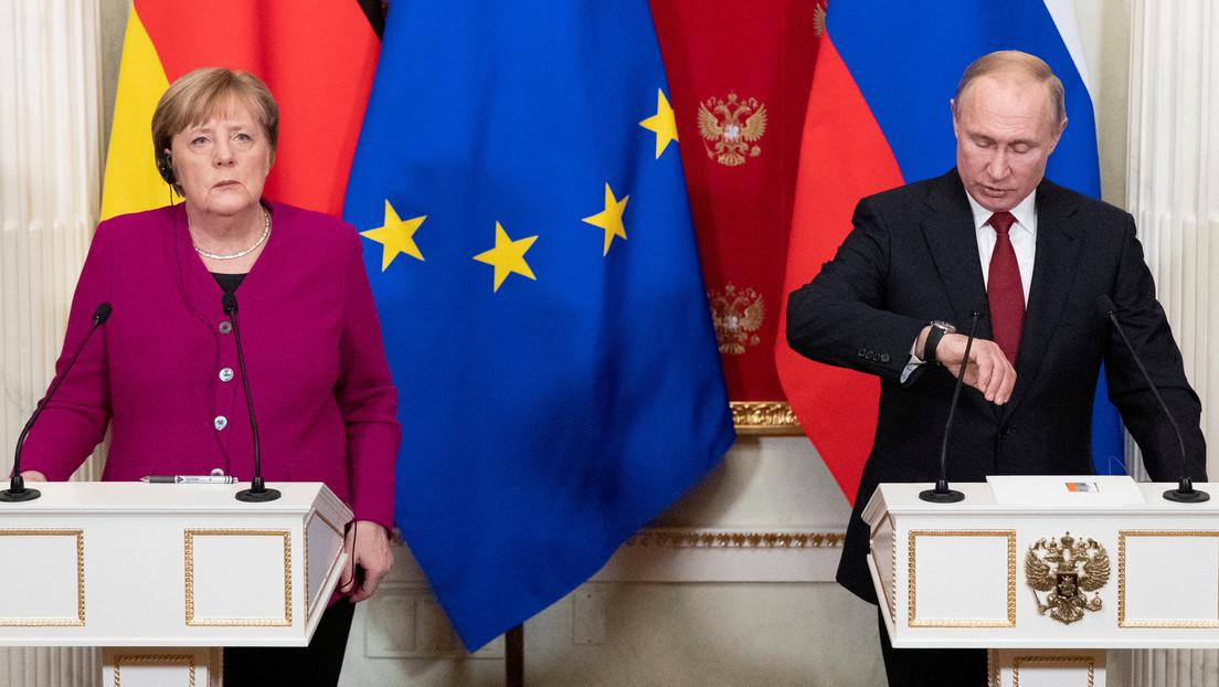 Wladimir Putin wird nach eigenen Angaben Angela Merkel als Bundeskanzlerin vermissen