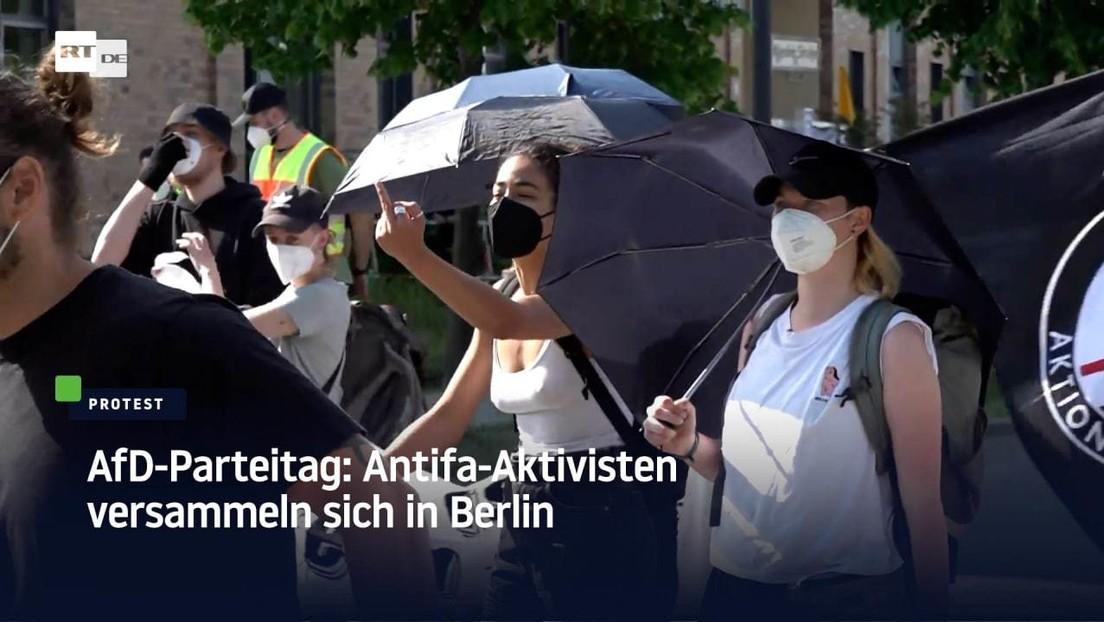AfD-Parteitag: Antifa-Aktivisten versammeln sich in Berlin