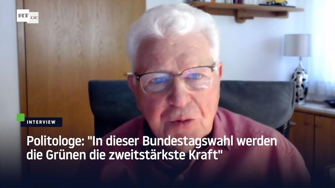 """Politologe: """"Bei dieser Bundestagswahl werden die Grünen die zweitstärkste Kraft"""""""