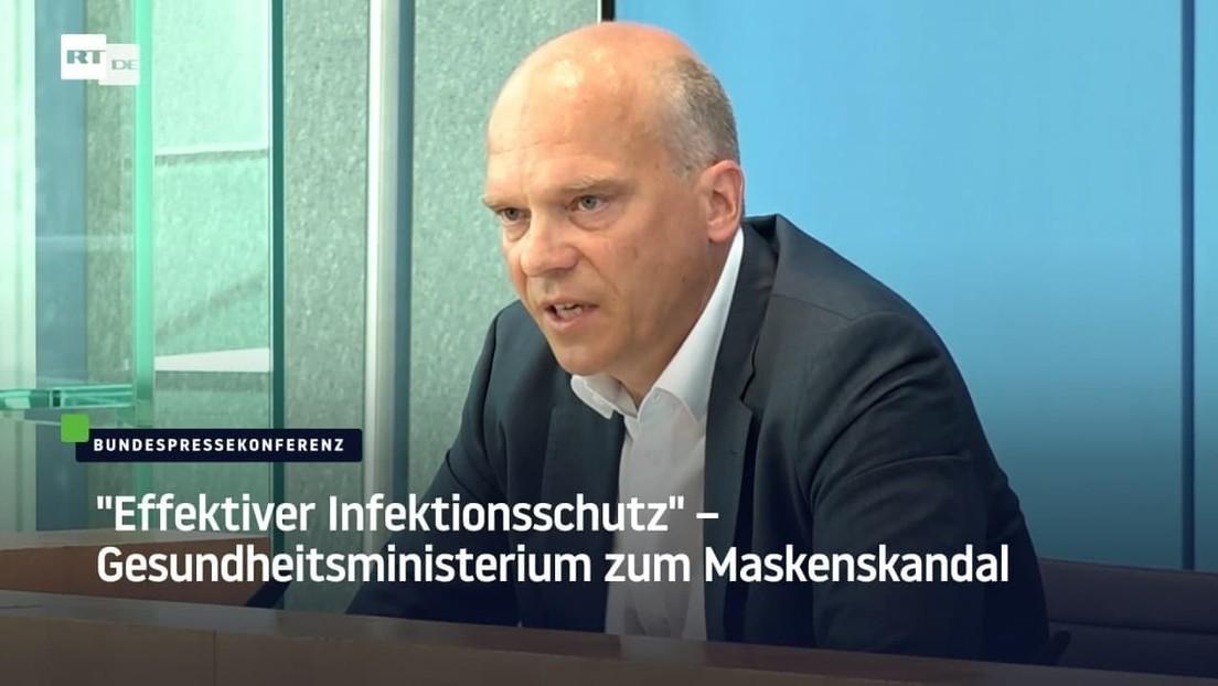 """""""Effektiver Infektionsschutz"""" – Gesundheitsministerium zum Maskenskandal"""