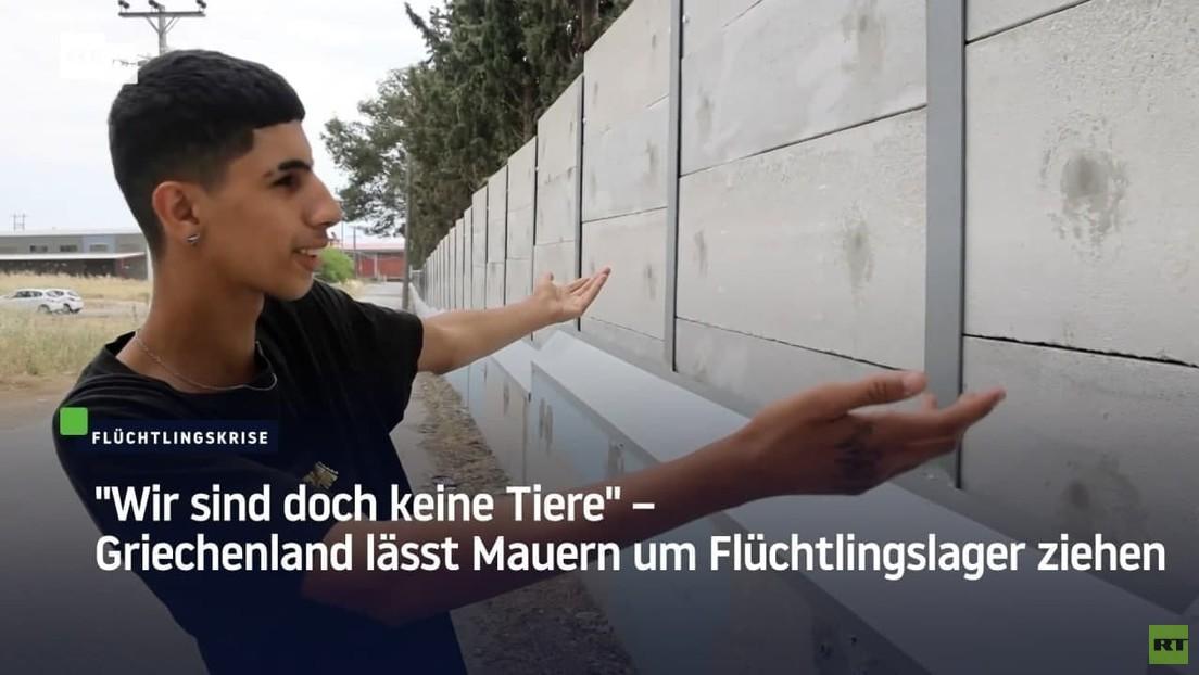 Griechenland lässt Mauern um Flüchtlingslager ziehen