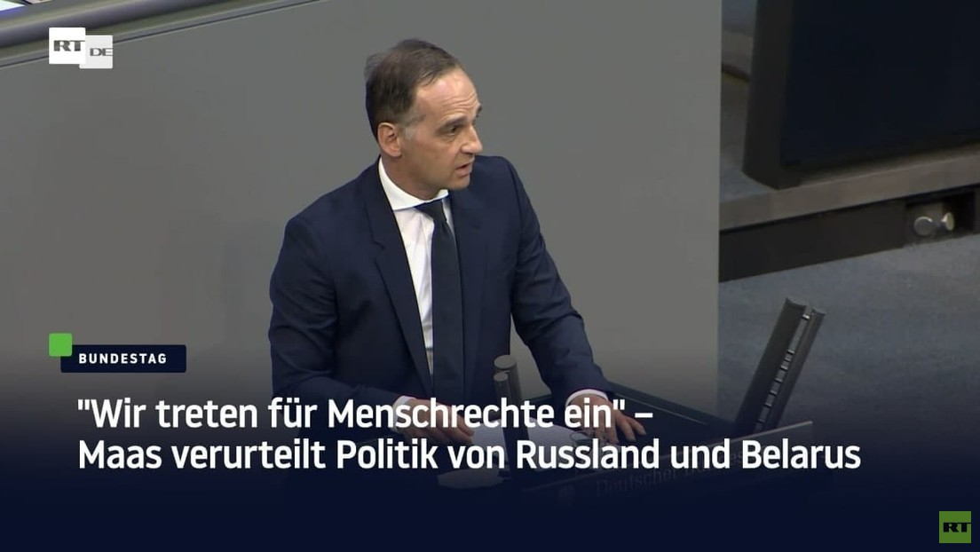 """""""Wir treten für Menschrechte ein"""" – Maas verurteilt Politik von Russland und Belarus"""