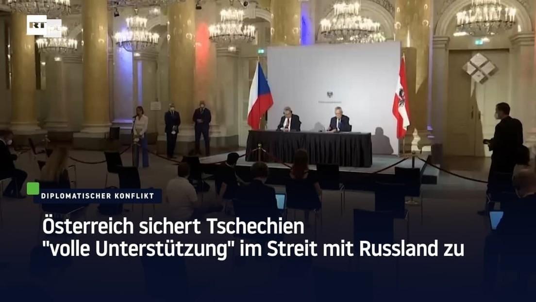 """Österreich sichert Tschechien """"volle Unterstützung"""" im Streit mit Russland zu"""