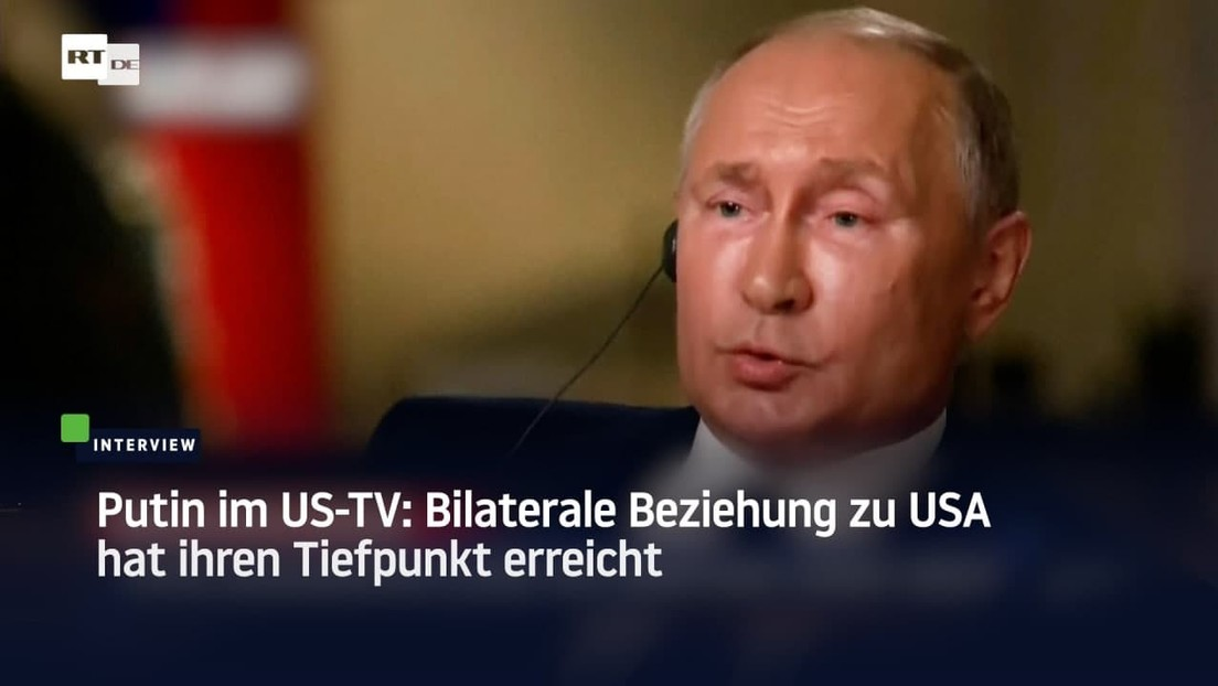 Putin im US-amerikanischen Fernsehen: Bilaterale Beziehung zu USA hat ihren Tiefpunkt erreicht