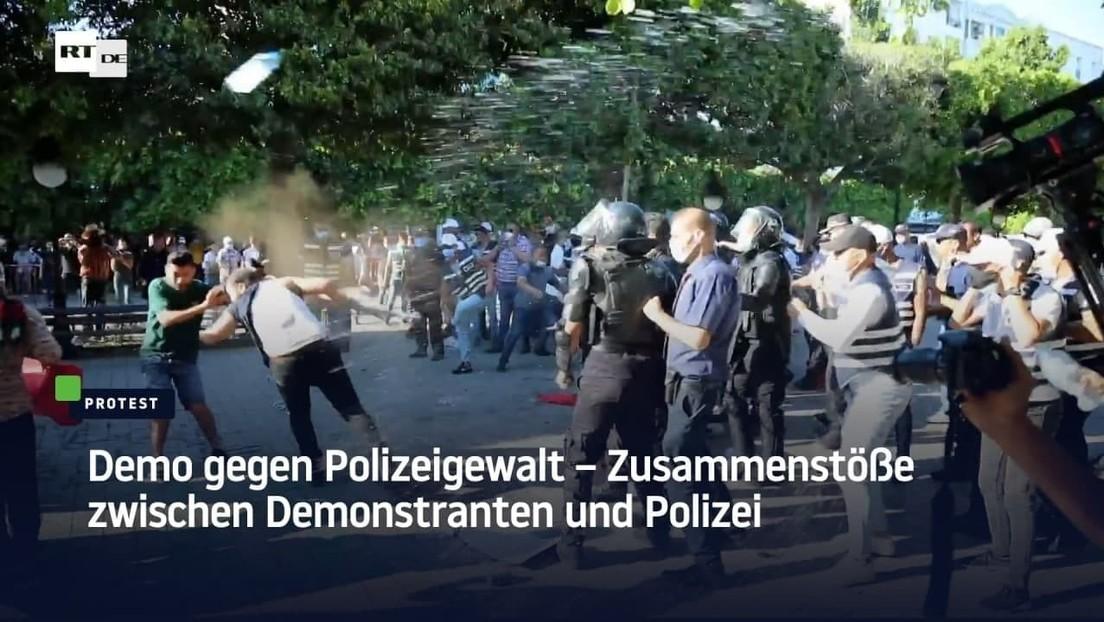 Tunis: Demo gegen Polizeigewalt – Zusammenstöße zwischen Demonstranten und Polizei