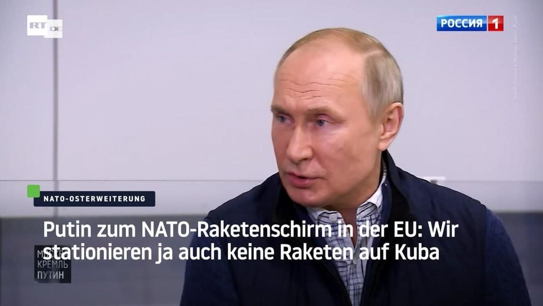Putin zum NATO-Raketenschirm in der EU: Wir stationieren ja auch keine Raketen auf Kuba
