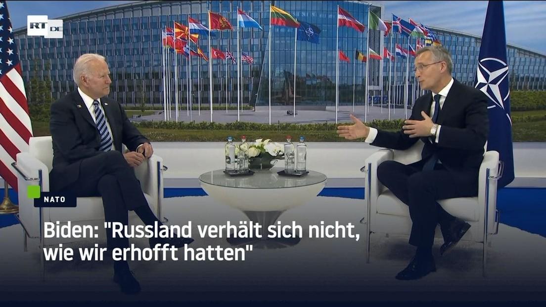 """Biden im Gespräch mit NATO-Chef: """"Russland verhält sich nicht, wie wir erhofft hatten"""""""