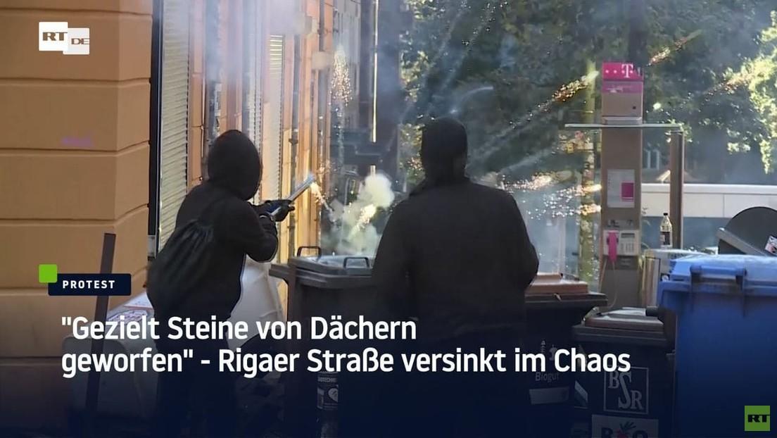 Rigaer versinkt im Chaos: Aktivisten blockieren Feuerinspektion der Polizei