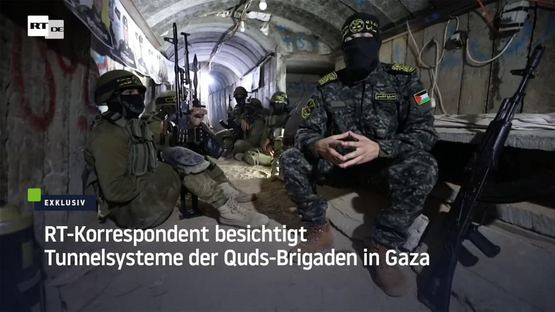 Exklusiv: RT-Korrespondent besichtigt Tunnelsysteme der Quds-Brigaden in Gaza