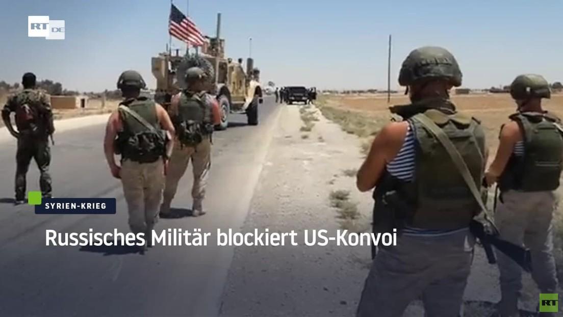 Russisches Militär blockiert illegalen US-Konvoi in Syrien