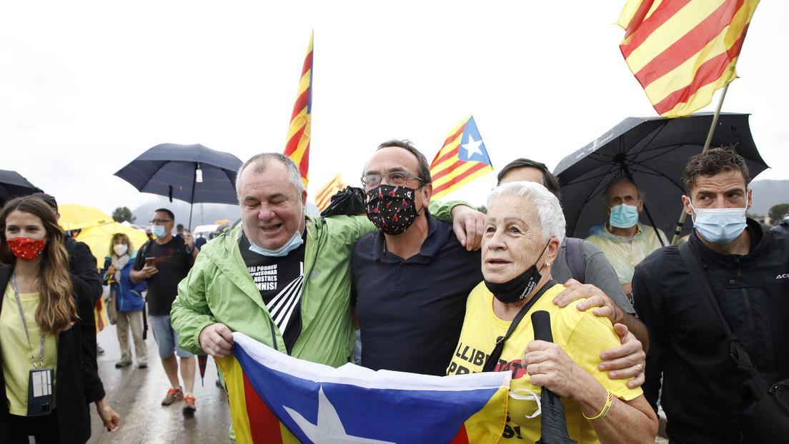 """""""Es lebe das freie Katalonien"""": Begnadigte Unabhängigkeitsbefürworter wollen weiter kämpfen"""
