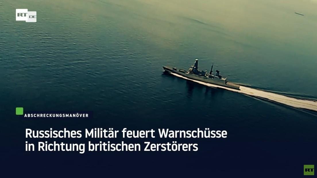 Schwarzes Meer: Russisches Militär gibt Warnschüsse in Richtung eines britischen Zerstörers ab