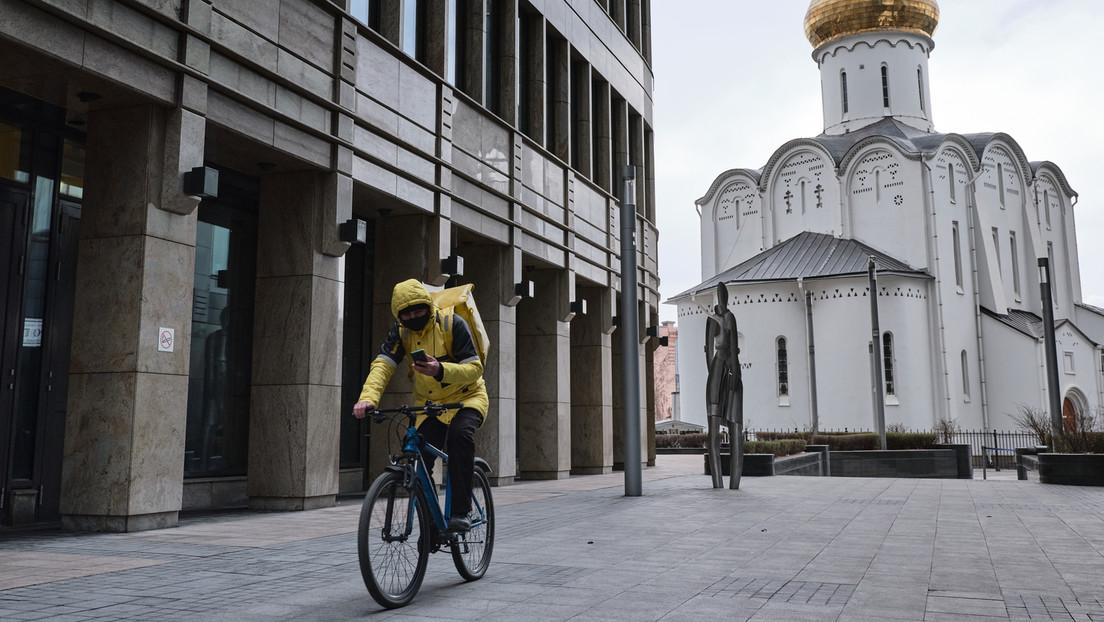 Moskau: Auch Essenslieferanten müssen sich impfen lassen