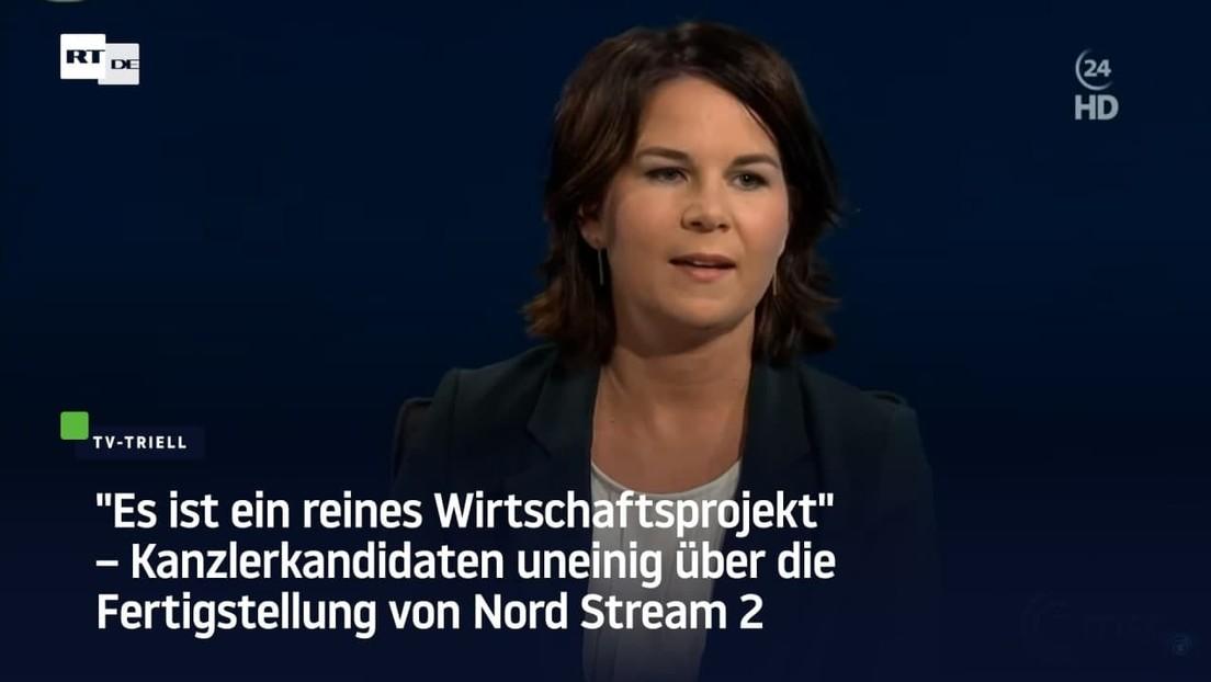 Kanzlerkandidaten uneinig über die Fertigstellung von Nord Stream 2