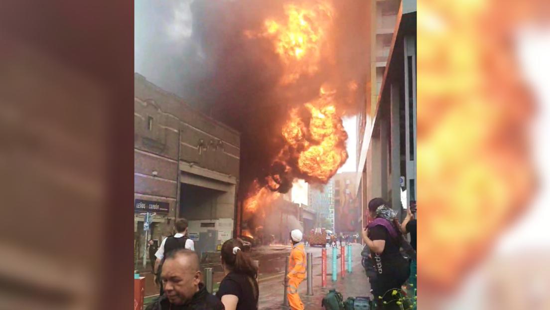 Großfeuer bricht in der Nähe des Bahnhofs Elephant and Castle im Süden Londons aus