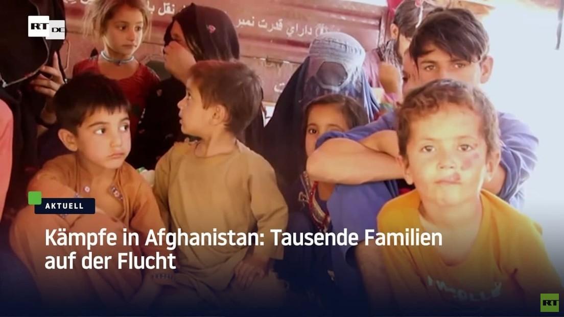 Nach Kämpfen zwischen Taliban und Regierung: Tausende Afghanen auf der Flucht