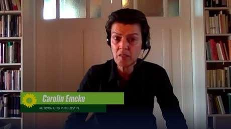 """Grünen-Parteitag: Carolin Emcke vergleicht """"Klimaforscher:innen"""" mit verfolgten Juden"""