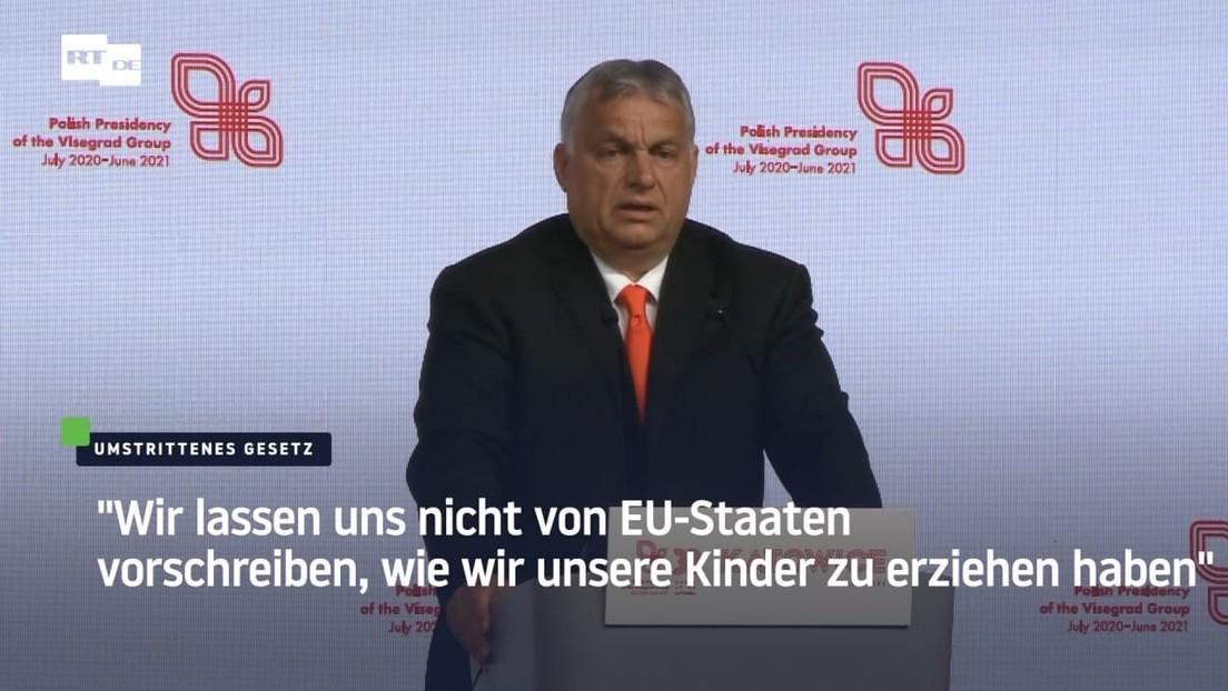 """Orbán: """"Wir lassen uns nicht von EU-Staaten vorschreiben, wie wir unsere Kinder zu erziehen haben"""""""