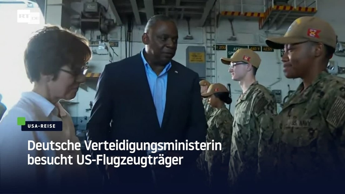 Verteidigungsministerin Kramp-Karrenbauer besucht US-Flugzeugträger