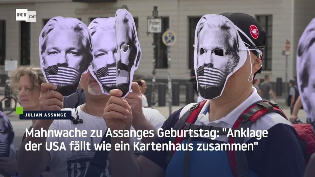 """Mahnwache zu Assanges Geburtstag: """"Anklage der USA fällt wie ein Kartenhaus zusammen"""""""