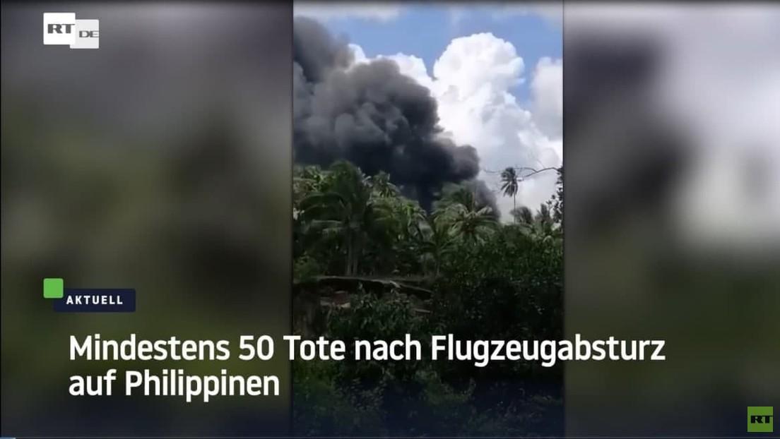 Philippinen: Todeszahl nach Flugzeugabsturz steigt auf 50