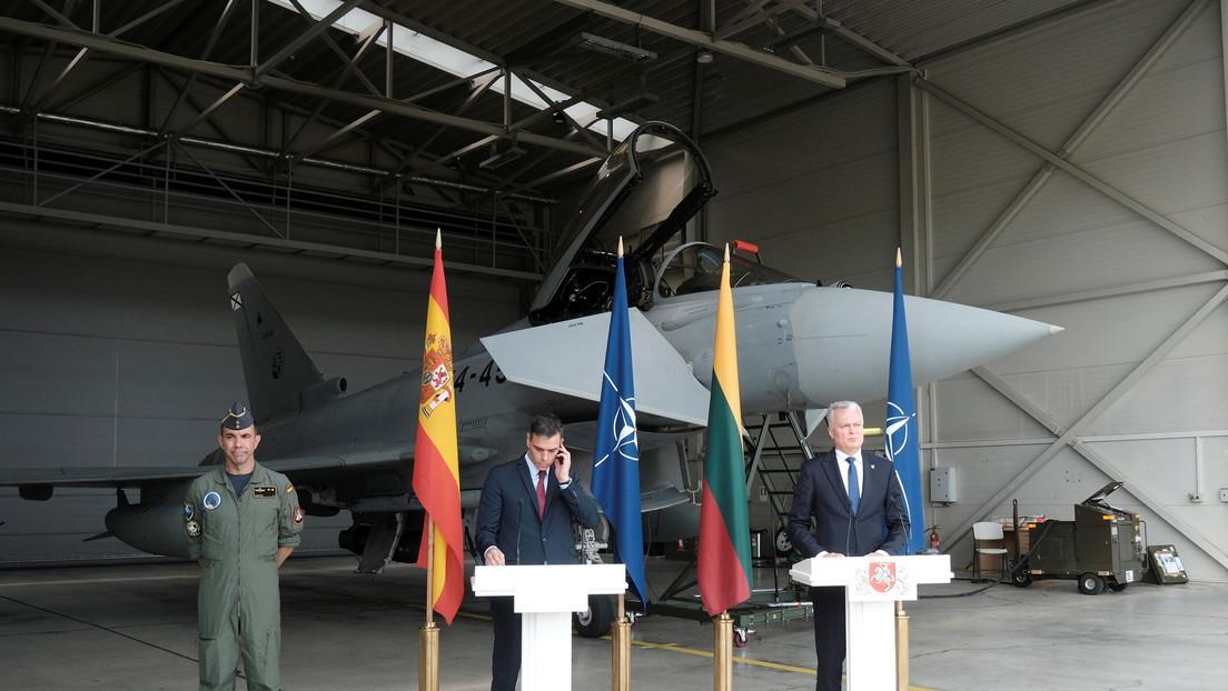 Wegen russischer Kampfjets: Regierungs-Pressekonferenz in Litauen musste NATO-Einsatz weichen