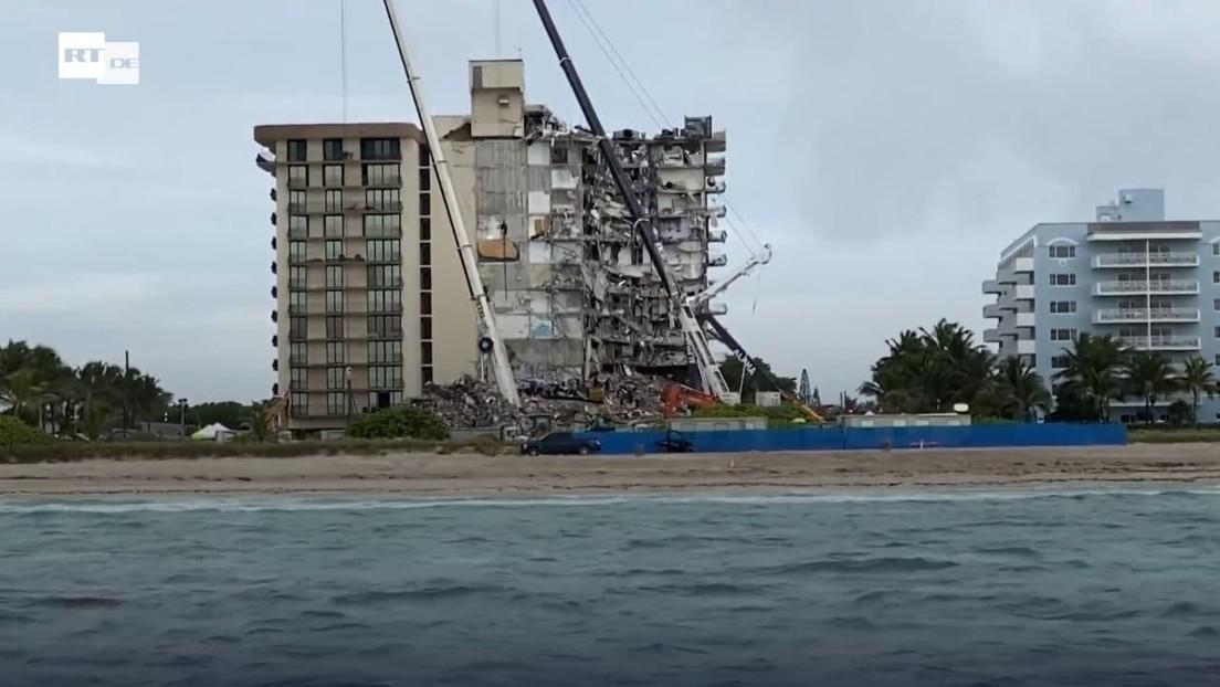 Rettungsaktion nach Hochhauseinsturz nahe Miami beendet: Keine Hoffnung mehr auf Überlebende