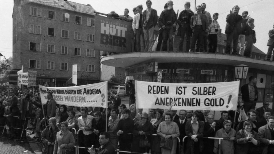 """Vor 50 Jahren: Schluss mit """"DDR"""" – Gänsefüßchen offiziell abgeschafft"""