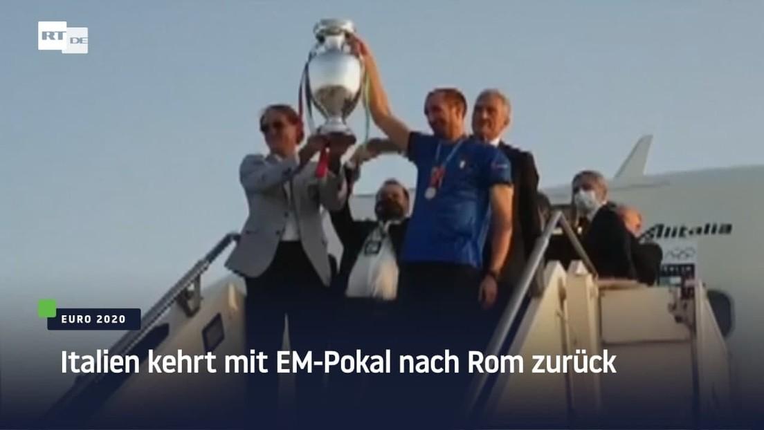 Italien kehrt mit EM-Pokal nach Rom zurück