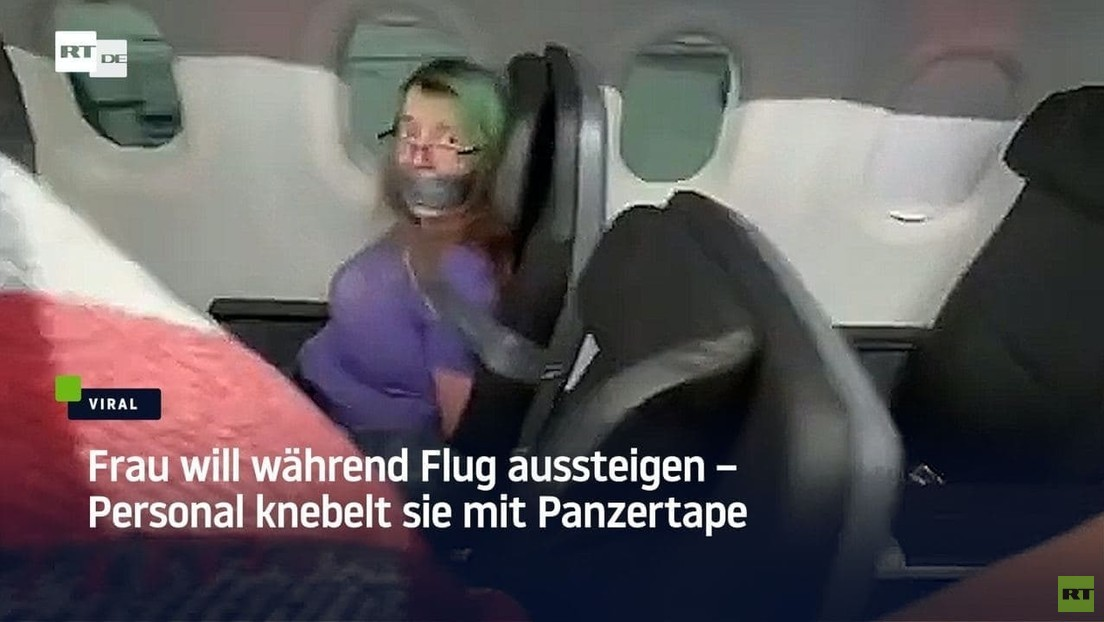 Frau will während Flug aussteigen – Personal knebelt sie mit Panzertape