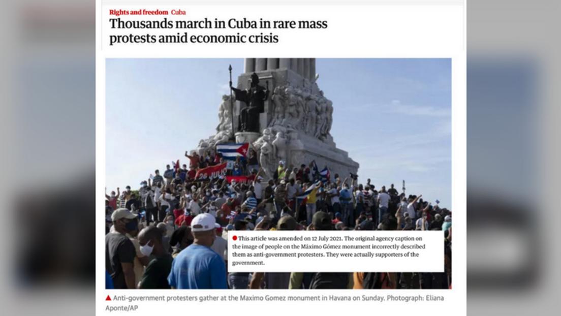 Kuba: Westmedien nehmen Fotos von einer Pro-Regierungs-Demo, um Proteste zu illustrieren