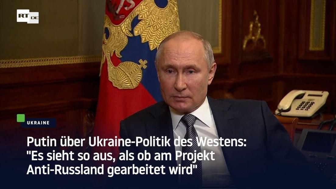 """Putin über Ukraine-Politik: """"Es sieht so aus, als ob am Projekt Anti-Russland gearbeitet wird"""""""