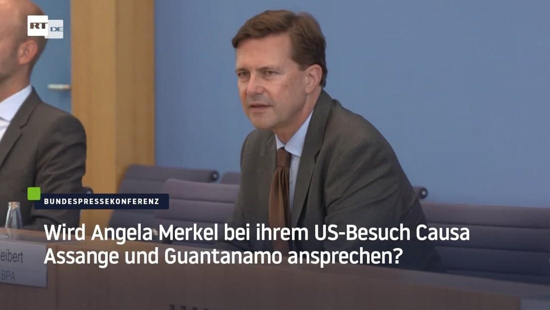 Wird Angela Merkel bei ihrem US-Besuch Causa Assange und Guantanamo ansprechen?