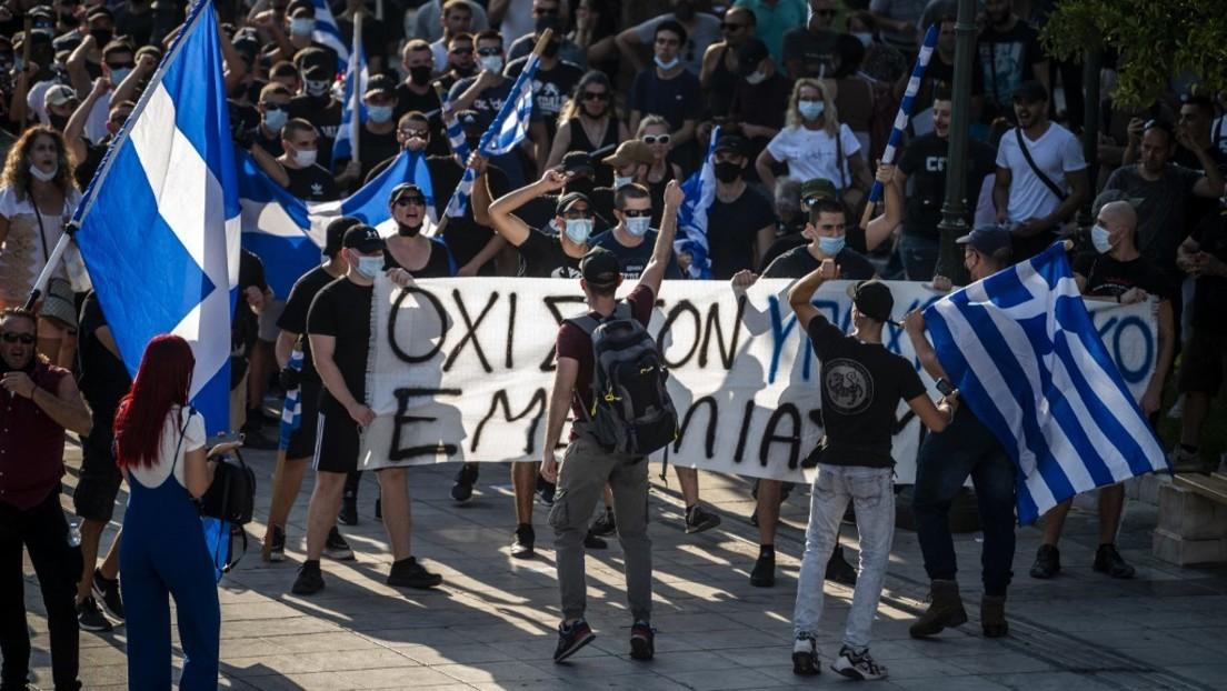 Tausende demonstrieren in Athen gegen Druck auf Ungeimpfte