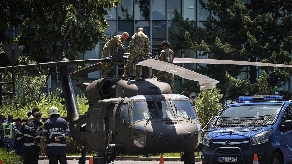Rumänien: Notlandung eines US-Hubschraubers im Bukarester Stadtverkehr