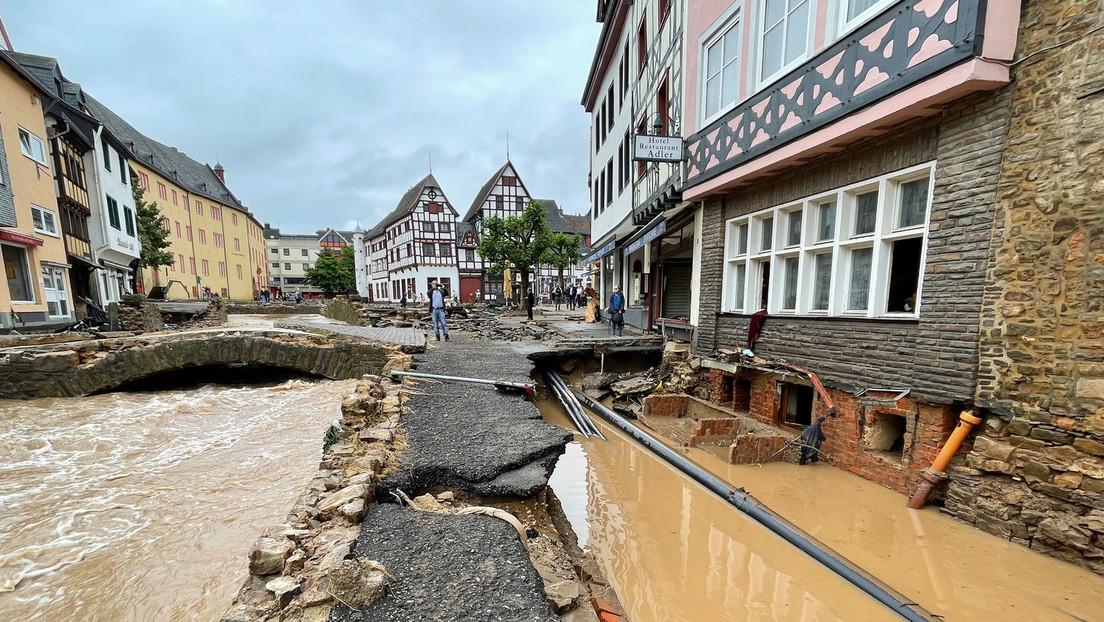 Westdeutschland: Weiterhin Tote und Vermisste bei Hochwasserkatastrophe