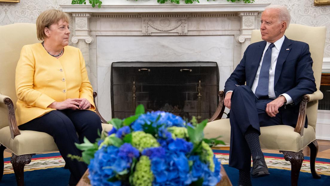 Abschiedsbesuch in den USA: Merkel und Biden betonen deutsch-amerikanische Freundschaft