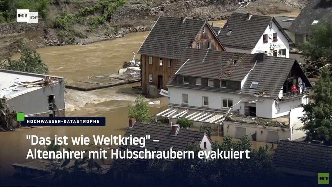 """""""Wie im Weltkrieg"""" – Anwohner über Hochwasserschäden im RT DE-Interview"""