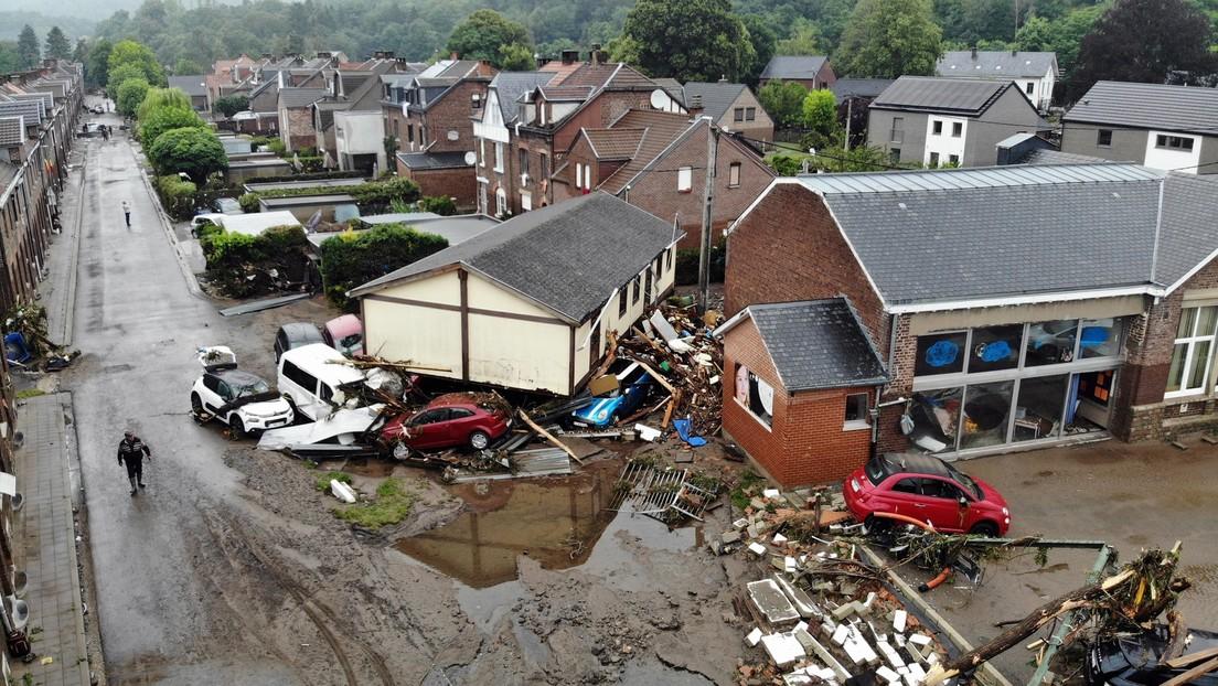 Auch in Belgien: Hochwasser fordert viele Todesopfer