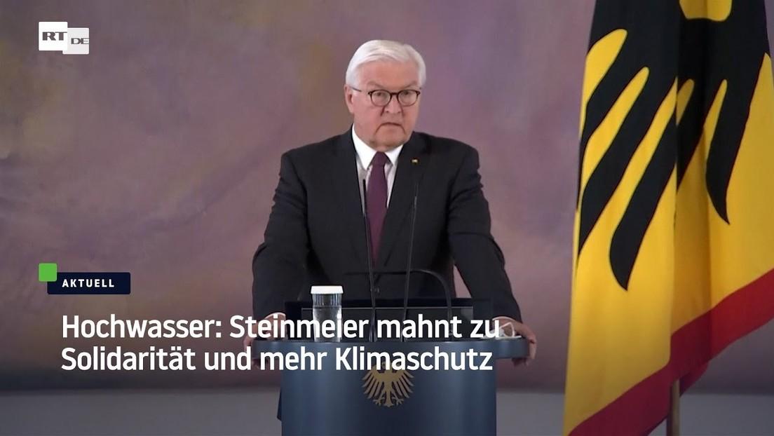 Flutkatastrophe: Frank-Walter Steinmeier verspricht Hilfe für Betroffene