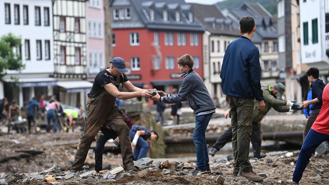 Hochwasser 2021: Menschen schließen sich angesichts der Not zusammen