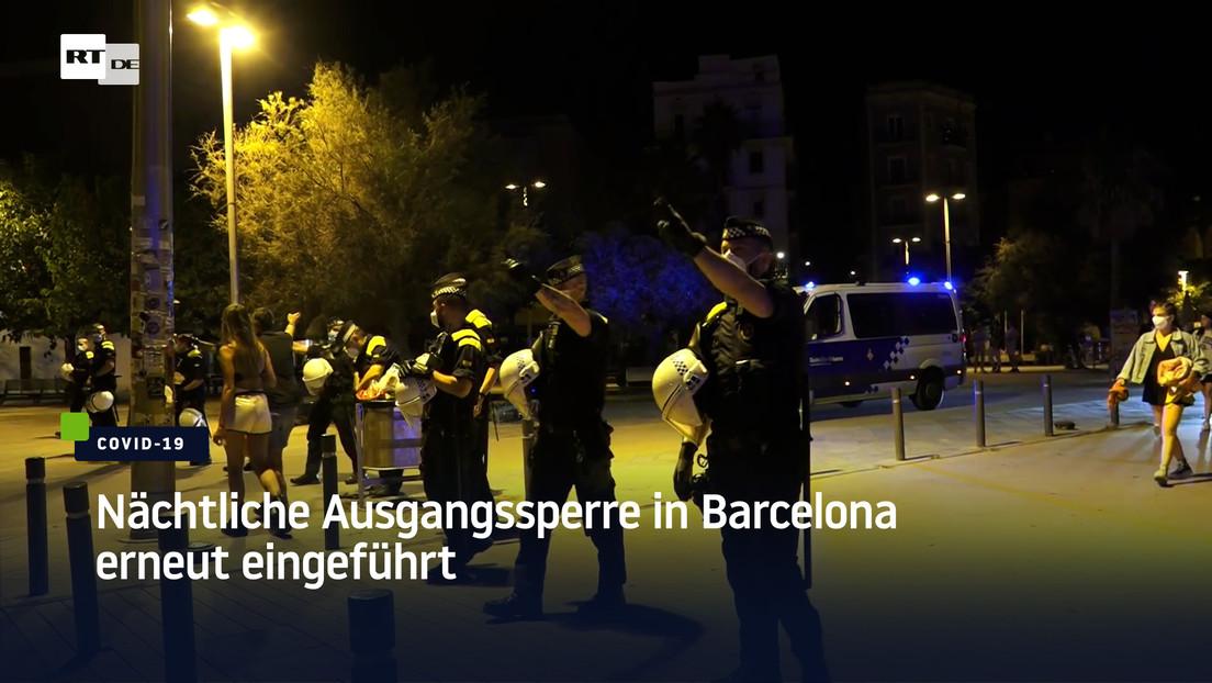 Nächtliche Ausgangssperre in Barcelona erneut eingeführt