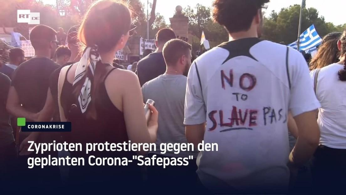 """Zyprioten protestieren gegen den geplanten Corona-""""Safepass"""""""