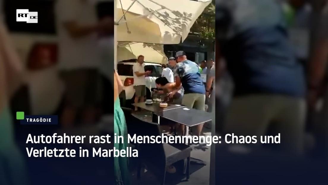 Autofahrer rast in Menschenmenge: Chaos und Verletzte in Marbella