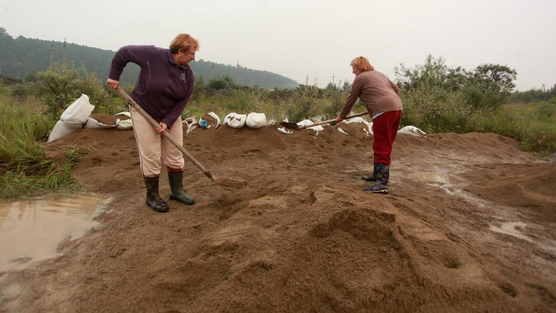 """""""Wer andern eine Grube gräbt ..."""" – Sacharowa erinnert DW an Karikatur zum Hochwasser in Sibirien"""
